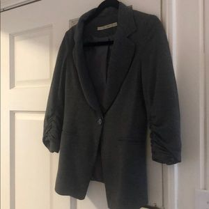 Fitted Gray Blazer